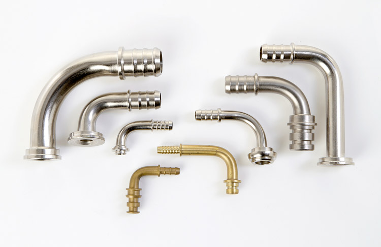 Brass hose elbows